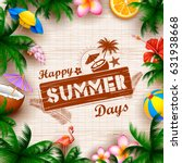 illustration of Summer time poster wallpaper for fun party invitation banner template | Shutterstock vector #631938668