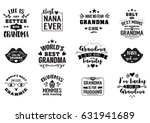 best grandma handwritten in... | Shutterstock .eps vector #631941689
