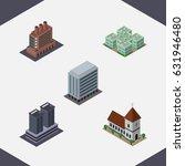 isometric building set of... | Shutterstock .eps vector #631946480