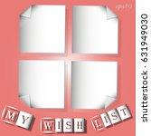 infographics my wish list white ... | Shutterstock .eps vector #631949030
