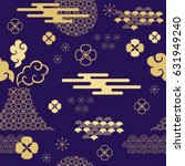 decorative seamless  pattern... | Shutterstock .eps vector #631949240