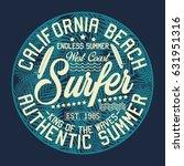 california beach  endless... | Shutterstock .eps vector #631951316