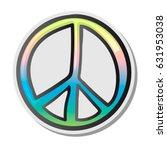 peace sign  emoji  sticker ... | Shutterstock .eps vector #631953038