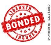 red business stamp licensed... | Shutterstock .eps vector #631953080