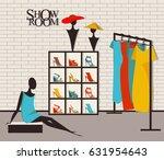 vector illustration modern loft ... | Shutterstock .eps vector #631954643