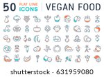 set line icons in flat design... | Shutterstock . vector #631959080