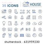 set line icons in flat design... | Shutterstock . vector #631959230