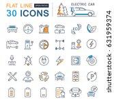 set line icons in flat design... | Shutterstock . vector #631959374
