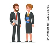 businessman and businesswoman  ... | Shutterstock . vector #631965788