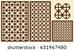 set of decorative panels laser... | Shutterstock .eps vector #631967480