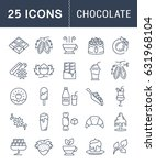 set line icons in flat design... | Shutterstock . vector #631968104