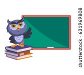 nice owl  he is pointing a... | Shutterstock .eps vector #631969808