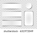 set of banners with shadow.... | Shutterstock .eps vector #631972049