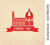 florence detailed silhouette.... | Shutterstock .eps vector #631980290