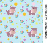 seamless pattern with cartoon... | Shutterstock .eps vector #631980308