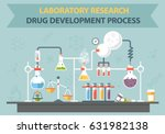 vector chemistry lab work space ... | Shutterstock .eps vector #631982138
