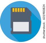 memory card vector icon | Shutterstock .eps vector #631983824