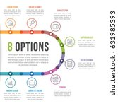 8 options infographic template... | Shutterstock .eps vector #631985393