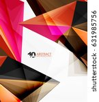 3d triangle polygonal abstract... | Shutterstock .eps vector #631985756