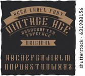 handcrafted 'vintage age' aged... | Shutterstock .eps vector #631988156
