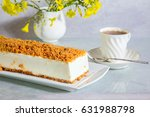 gorgeous white cheesecake ... | Shutterstock . vector #631988798