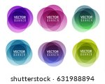set of colorful round abstract... | Shutterstock .eps vector #631988894