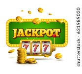 slot machine lucky sevens... | Shutterstock .eps vector #631989020
