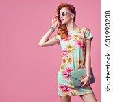 fashion beauty woman in summer... | Shutterstock . vector #631993238