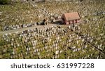 chapel of rest and cemetery.... | Shutterstock . vector #631997228
