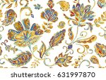 hand drawn floral flower... | Shutterstock . vector #631997870