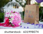 happy birthday party decoration ... | Shutterstock . vector #631998074