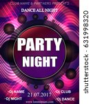 night dance party poster... | Shutterstock .eps vector #631998320