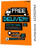free delivery poster with truck ...