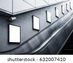 mock up billboard poster ads... | Shutterstock . vector #632007410