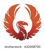 round the emblem of a phoenix... | Shutterstock .eps vector #632008700