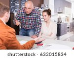 young couple is dissatisfied... | Shutterstock . vector #632015834