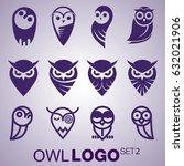 Stock vector owl logo set 632021906