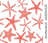 seamless pattern with various... | Shutterstock .eps vector #632024120