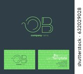o b letters logo with business...   Shutterstock .eps vector #632029028