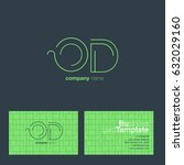 o d letters logo with business...   Shutterstock .eps vector #632029160