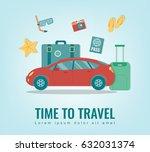 travel background. summer... | Shutterstock .eps vector #632031374