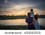 soft focus image.parents ... | Shutterstock . vector #632032523