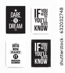 a set of four motivational... | Shutterstock .eps vector #632032748