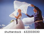 newly wed couple dancing next... | Shutterstock . vector #632033030