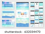 website template  one page... | Shutterstock .eps vector #632034470