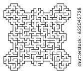 abstract maze   labyrinth with... | Shutterstock .eps vector #632042738