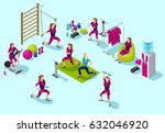 isometric infographic ems...   Shutterstock .eps vector #632046920