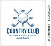 vector golf club logo. | Shutterstock .eps vector #632051204