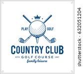 vector golf club logo. golf... | Shutterstock .eps vector #632051204