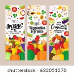 vector vegetables and fruits...   Shutterstock .eps vector #632051270